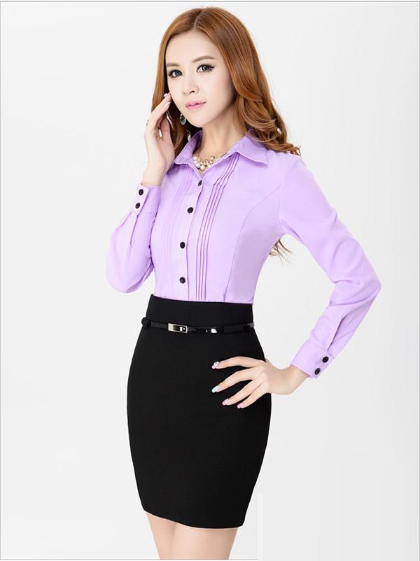 Đồng phục công sở áo sơ mi nữ 34