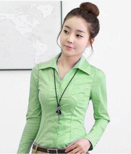 Đồng phục công sở áo sơ mi nữ 21