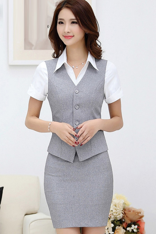 Đồng phục áo gile nữ công sở 18