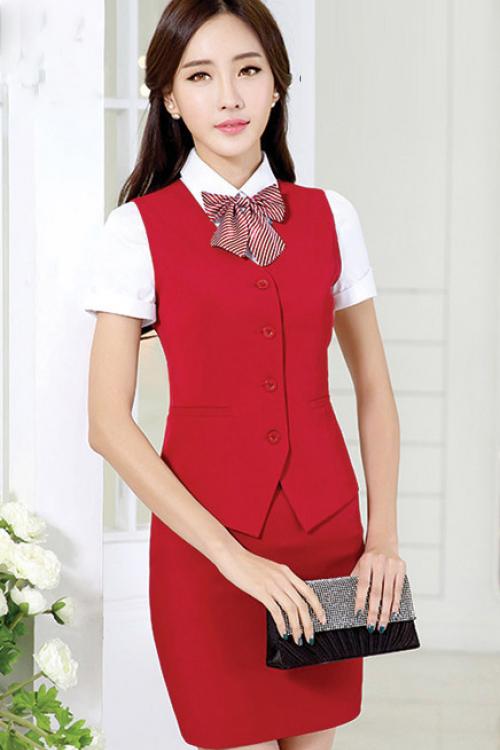 Đồng phục áo gile nữ công sở 17