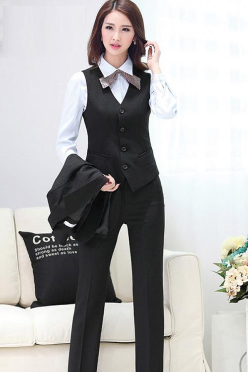 Đồng phục áo gile nữ công sở 15