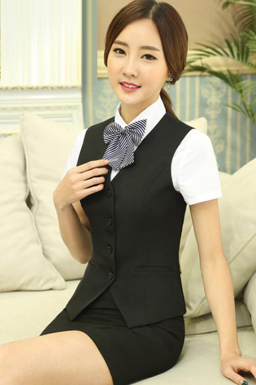 Đồng phục áo gile nữ công sở 14