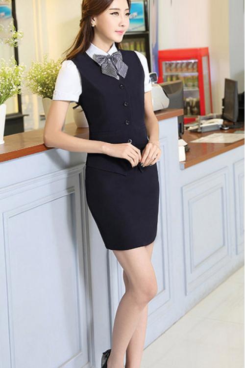 Đồng phục áo gile nữ công sở 13
