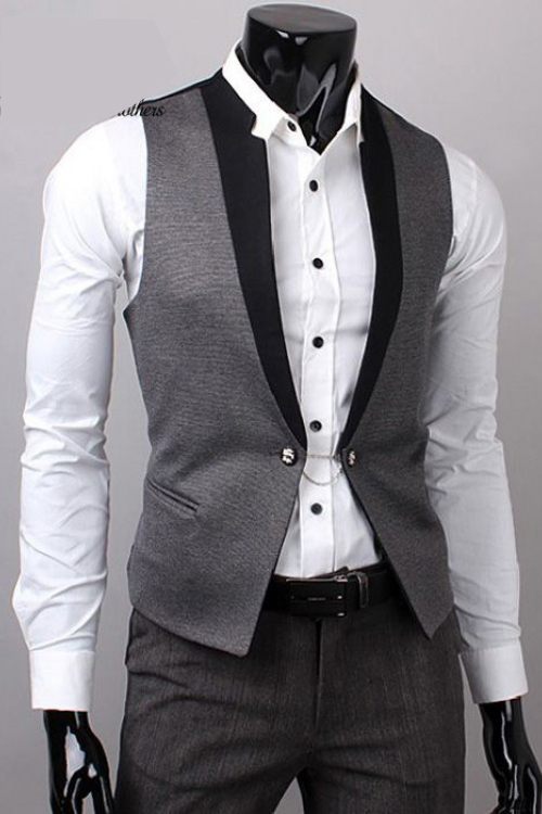 Đồng phục áo gile nam công sở 12