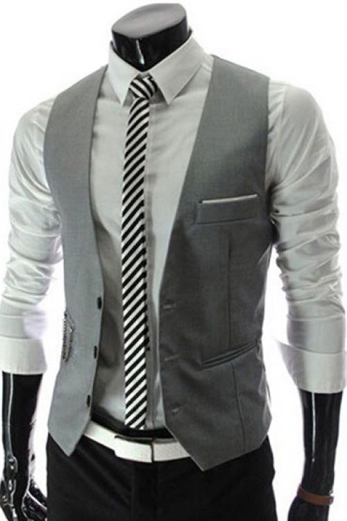 Đồng phục áo gile nam công sở 03