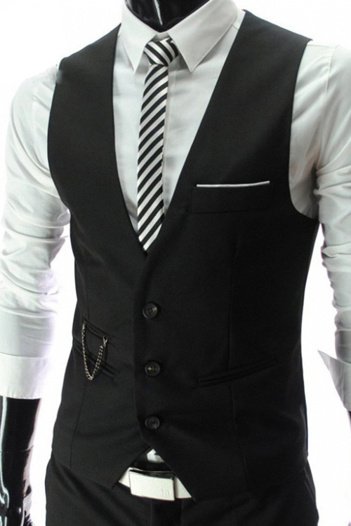 Đồng phục áo gile nam công sở 02