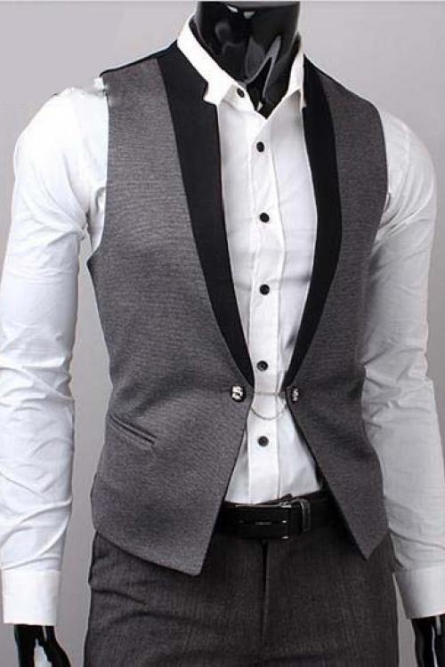 Đồng phục áo gile nam công sở 01