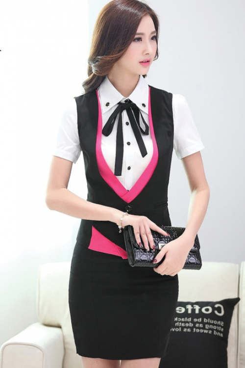 Đồng phục áo gile nữ công sở 24