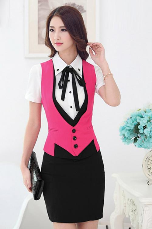 Đồng phục áo gile nữ công sở 22