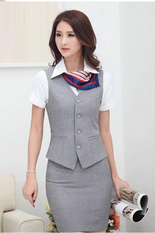 Đồng phục áo gile nữ công sở 21