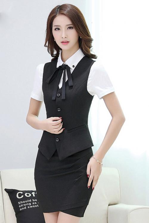 Đồng phục áo gile nữ công sở 19