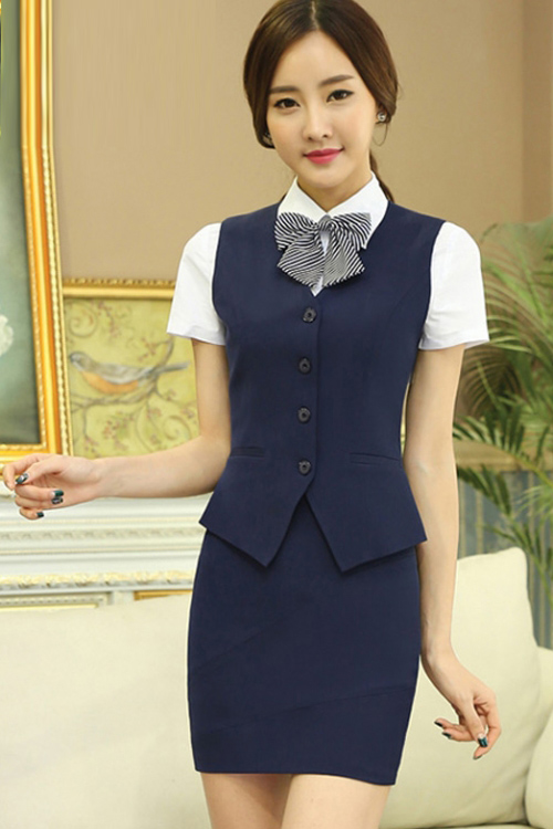 Đồng phục áo gile nữ công sở 01