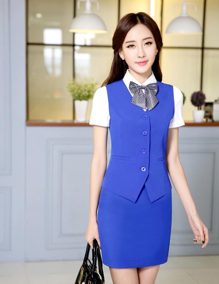 Đồng phục áo gile nữ công sở 27