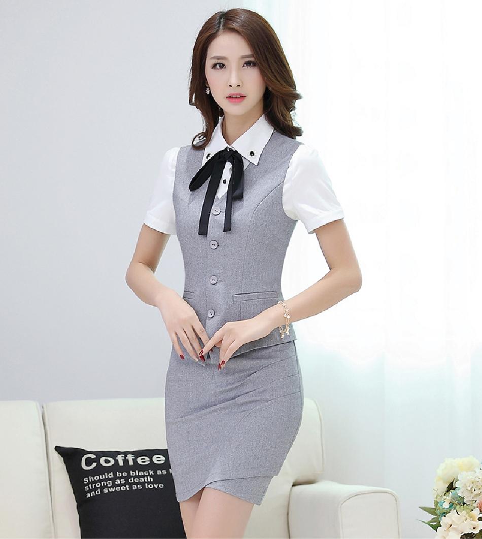 Đồng phục áo gile nữ công sở 25