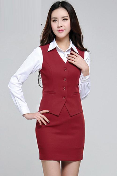 Đồng phục áo gile nữ công sở 23