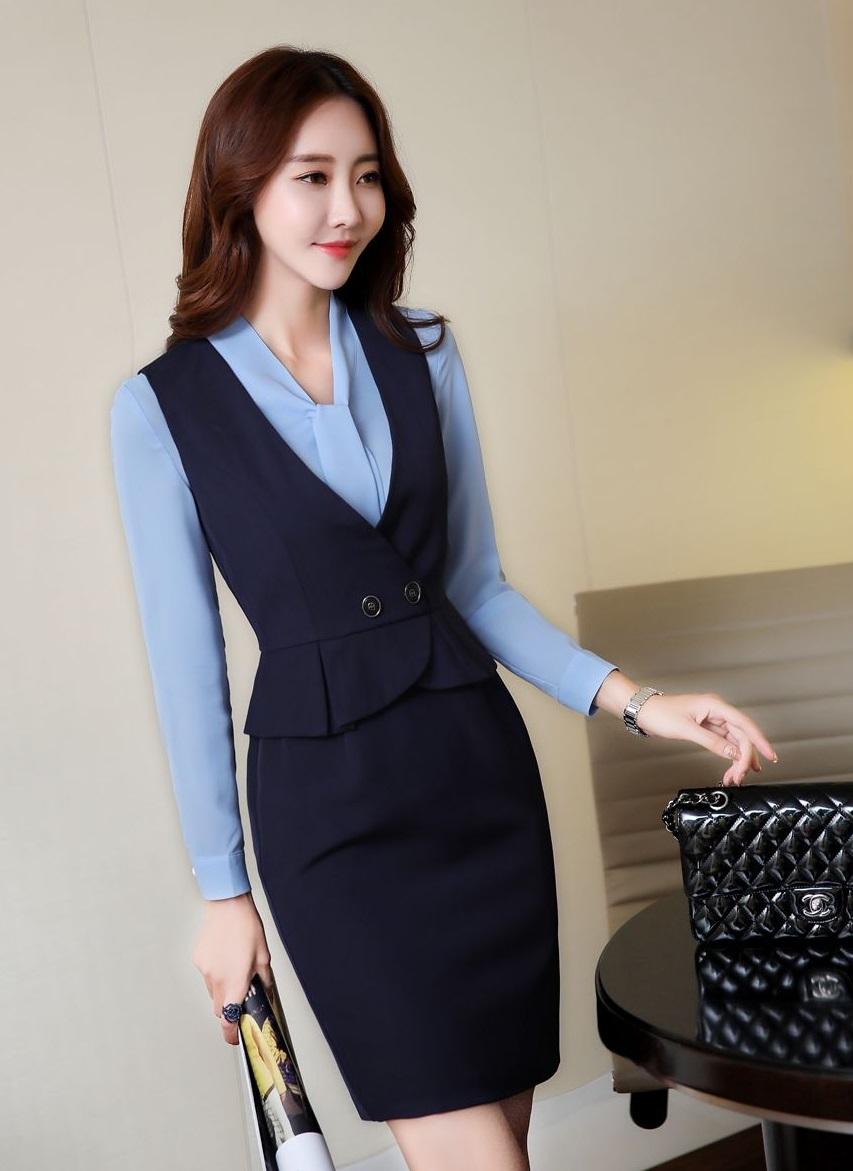 Đồng phục áo gile nữ công sở 10