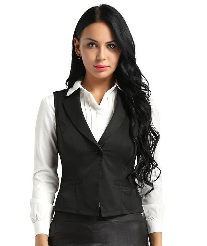 Đồng phục áo gile nữ công sở 07
