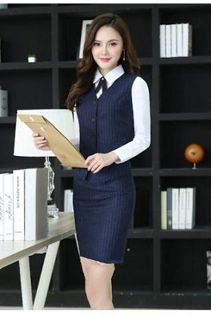Đồng phục áo gile nữ công sở 03